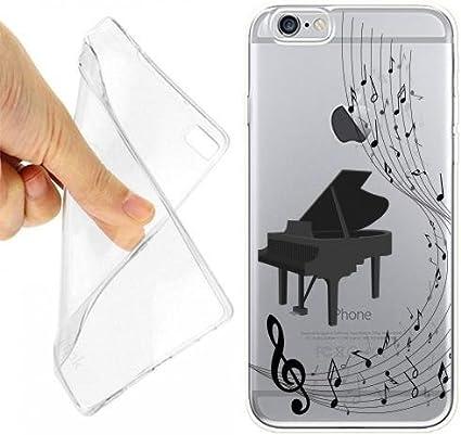 Custodia Cover Case Pianoforte Musica Nota per iPhone 6 6S ...