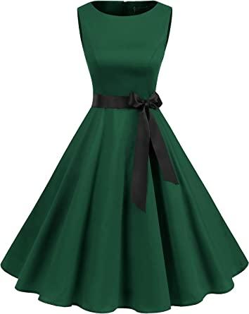 Gardenwed Women's 50s 60s Rockabilly Cocktail Dress Sleeveless Vintage Prom Swing Party Dress