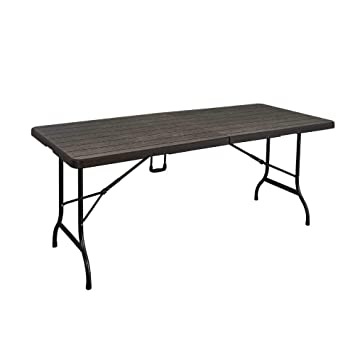 Table Imitation Bois Virage MarronJardin Pliante 9YHE2IWD