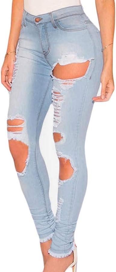 Myona Mono Mujer Denim Petos De Pantalones Largo Vaquero Pantalones Con Botones Jeans Rotos Mezclilla Mamelucos Sin Mangas Ropa Vestir Pantalones