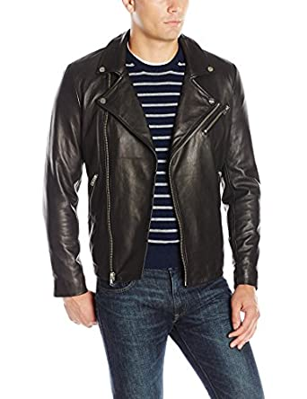 LAMARQUE Men's Thierry Lambskin Leather Biker Jacket at Amazon ...
