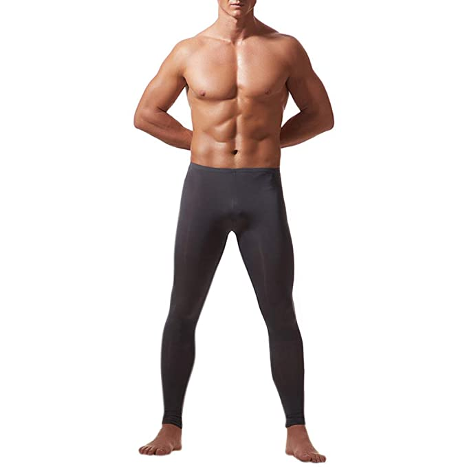 Aoile Men's Sports Tights Pants Warm Leggings Lifting Hip