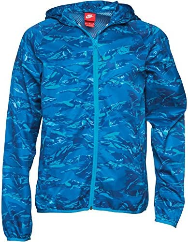 Nike Mens RU Packable Camo Windrunner DWR Running Jacket