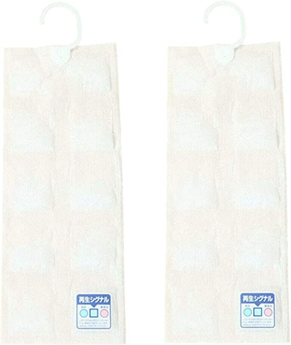2 Pack Recyclable Moisture Absorber Wardrobe Hanging