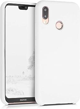 kwmobile Coque Compatible avec Huawei P20 Lite - Coque Étui Silicone - Housse de téléphone Blanc
