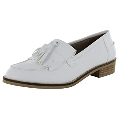Amazon.com | Steve Madden Women Meela Moc Toe Fringe Tassel Loafer Shoe,  White, US 8 | Shoes
