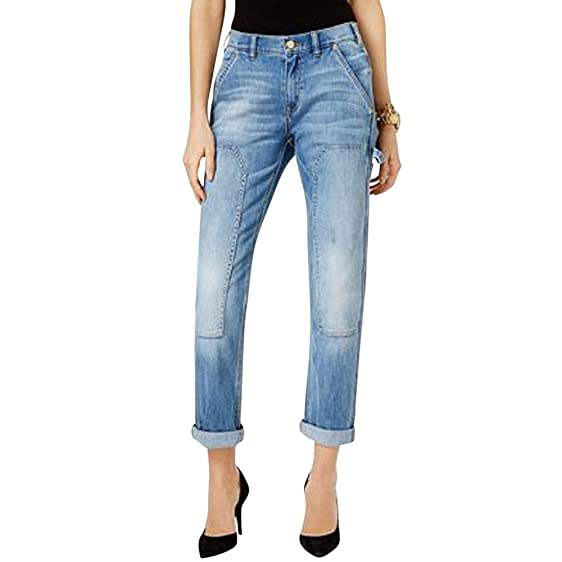 Michael Michael Kors Cropped Carpenter Jeans,6,Classic Wash