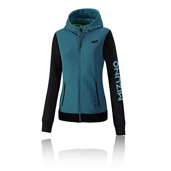 Mizuno Women's Heritage Zip Hoodie - AW17 - Large: Amazon.co.uk: Clothing