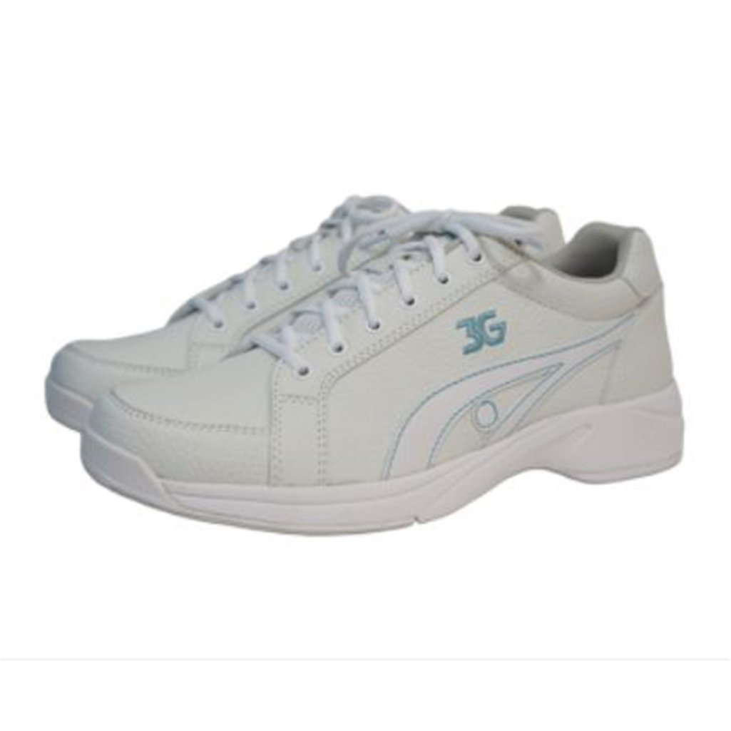 3G Womens Sneaks Bowling Shoes- White/Blue