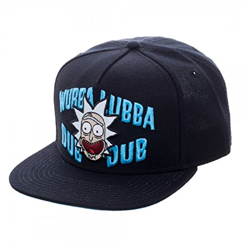 Rick & Morty Rick and Morty Embroidered Get Schwifty Curved Bill Cap, Gorra de Béisbol Unisex Adulto, Negro (Black Black), Talla única