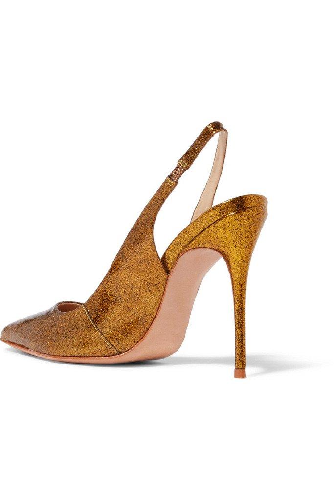 Damen Handgefertigte Schuhe Slingback Pointy High Heel Fashion Party ...