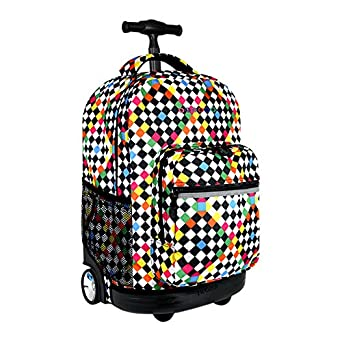 Amazon.com | J World New York Sunrise Rolling Backpack - 18 ...