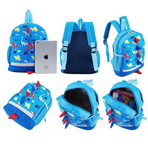 abccc7274891 SUNVP Cute School Backpack Cartoon Dinosaur Toddler Kids School Book Bags  Children Small Backpack Daysack For