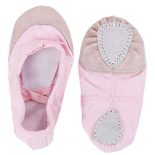 Canvas Ballet Dance Shoes Flats for Girls UK Size 5 1/2 (5 1/6 Inches)--- Pink: Amazon.co.uk: Shoes & Bags