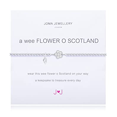 Joma Jewellery a wee Flower O Scotland Braclet