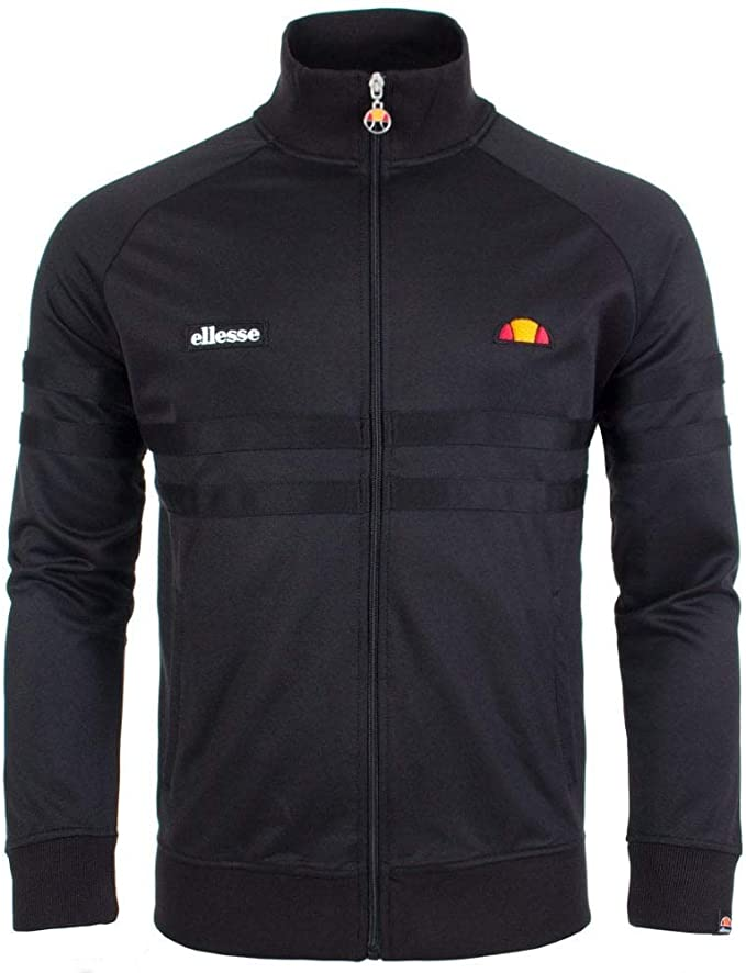 ELLESSE RIMINI TRACK Top in Black tracksuit jacket, retro