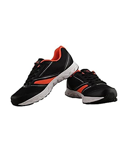 Reebok Men's Explore Run Black, Red, Silver and White Running Shoes - 8 UK