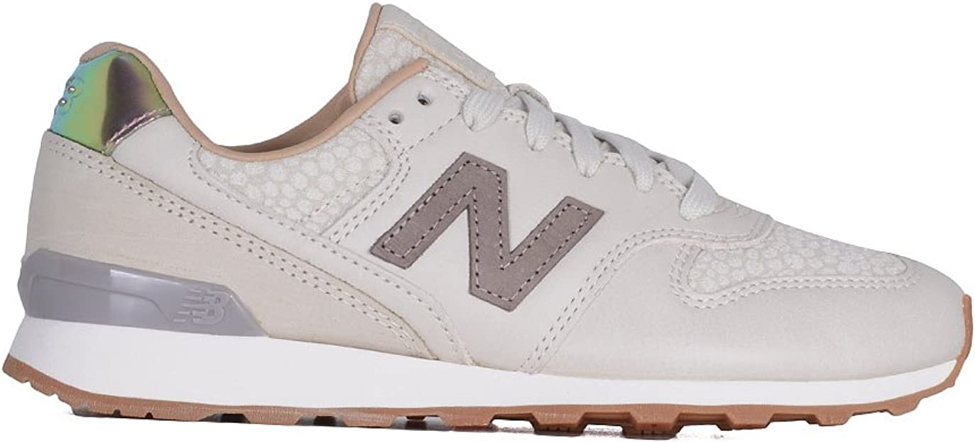 New Balance Damen Wr996gfr Beige Leder Sneakers: Amazon.de ...