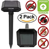 PESGONE 2pack Ultrasonic Solar-Powered Mole Repellent Mole Repeller Pest Deterrent Repelling Mole, Rodent, Vole, Shrew, Gopher, Snake for Outdoor Lawn Garden Yards Pest Control