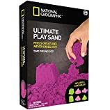 National Geographic Play Sand - 2 LBS of Sand with Castle Molds and Tray (Purple)