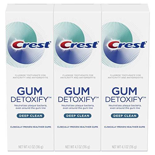 Crest Toothpaste Gum Detoxify Deep Clean, 4.1oz (Pack of 3) (Best Treatment For Gum Recession)