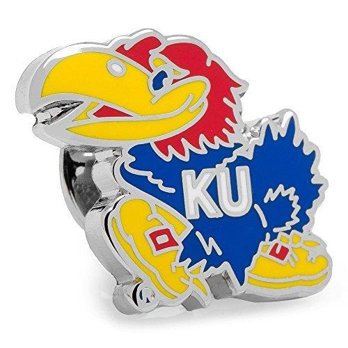 Kansas Jayhawks Cufflinks (NCAA University of Kansas Jayhawks Lapel Pin by Cufflinks)