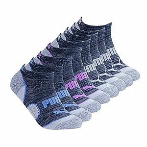 Puma Ladies 8-pair No Show Socks for Women (Black)
