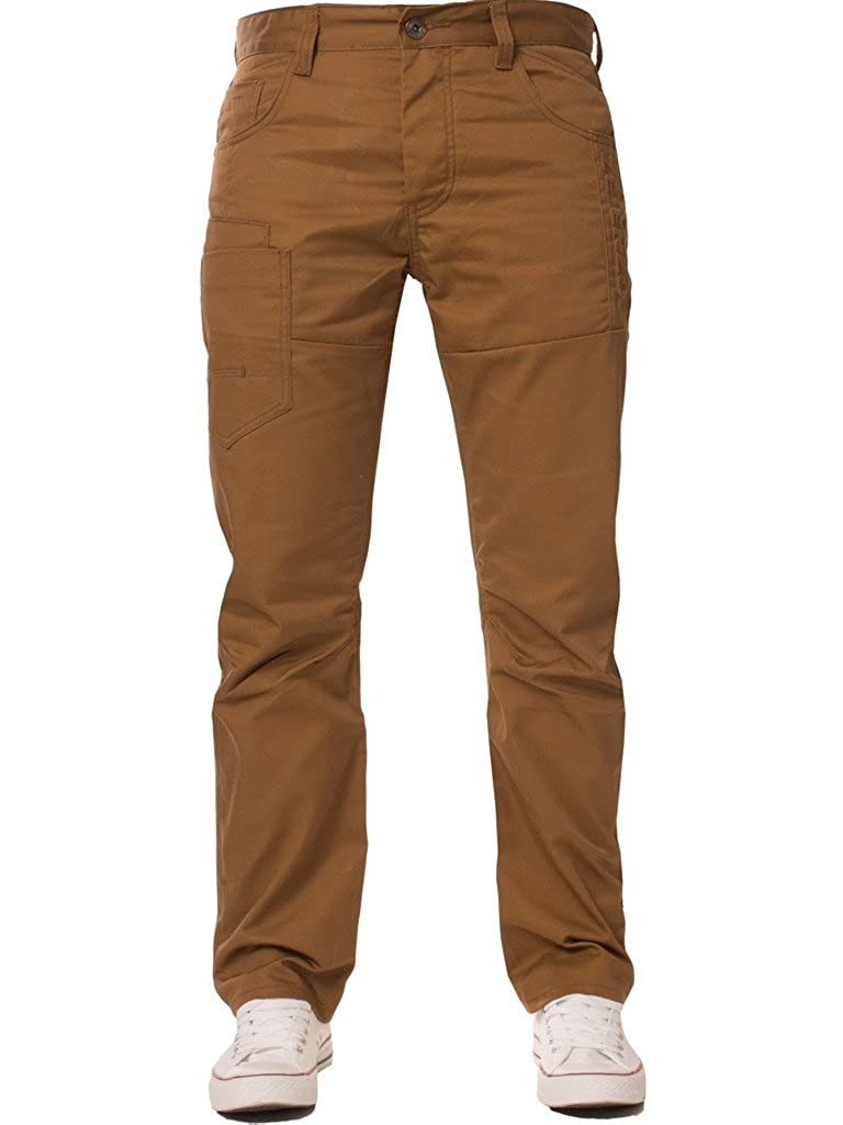 Enzo Mens Straight Leg Regular Fit Denim Coloured Jeans All Waist Sizes Available in 4 Colours