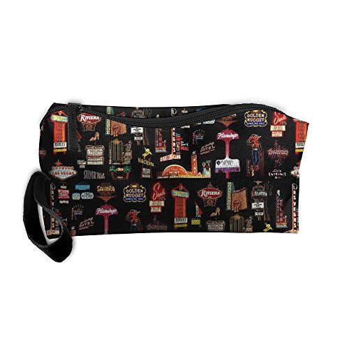 Las Vegas Pouch Makeup Portable Travel Toiletry Organizer Bag With - Vegas Town Las Square