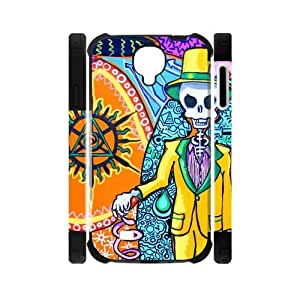 Canting_Good Tie Dye Colorful Mr Skull Custom Dual-Protective Case Cover Shell for Samsung Galaxy S4 I9500 3D