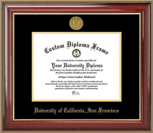 San Francisco Bears - Gold Medallion - Mahogany Gold Trim - Diploma Frame (Features 22k Gold Trim)