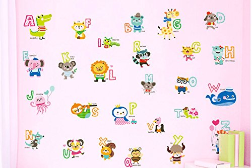 Soup Wallpaper Border (Peel and Stick Baby Animal ABC Alphabet Wall Sticker Vinyl)