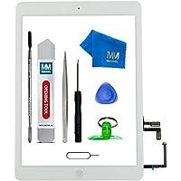 MMOBIEL Digitizer Display Glas für IPad Air (Weiss) 9.7 Inch Touchscreen Ersatzteil Inkl Flex Home Button + Kamera Halterung + Klebesticker und Werkzeugset mit Anleitung