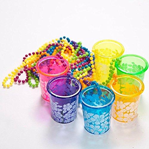 Fun Express Hibiscus Glass Necklace