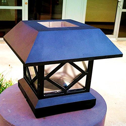 Solar Light Post Cap Lights 4 X 4 Plus Bright 15 Lumen Outdoor Warm White Led Lamp For Vinyl