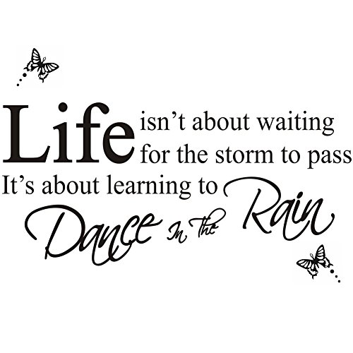Dancing In The Rain Wall Stickers Wall Decor Wall Decals Wallpaper English  Words Quote Letter Home Decoration