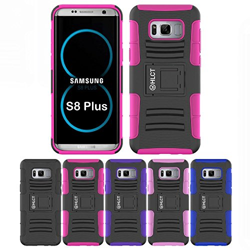 Price comparison product image Galaxy S8 Plus Case, HLCT Rugged Shock Proof Dual-Layer Case with Built-In Kickstand for Samsung Galaxy S8 Plus (2017) (Rose Pink)
