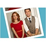 Glee Jayma Mays as Emma with Matthew Morrison as Will looking dull photobooth shot 8 x 10 Inch Photo