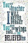 Teacher Appreciation Gift Notebook: Teacher Journal/Teacher Notebook: The Influence of A Great Teacher Can Never Be...