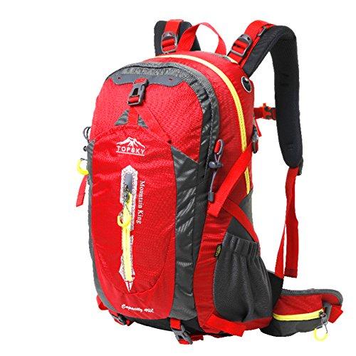 sacchetto di alpinismo/Outdoor trekking zaino/Pacchetti a cavallo impermeabile traspirante/Viaggio zaino trekking-rosso 50L