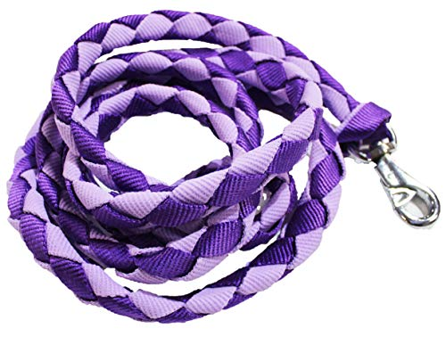 - CHALLENGER 10' Horse Flat Nylon Braided Halter Lead Rope Lilac 60565