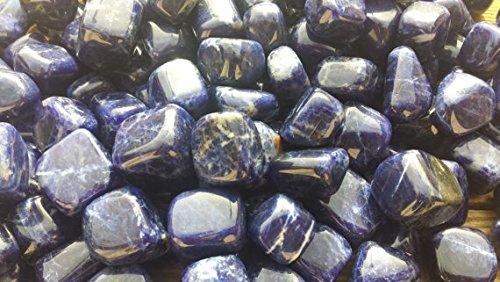Gemstone Six ([A&S Crystals] SIX (6) SODALITE TUMBLED Stones Medium/Large Natural Tumble Stones)