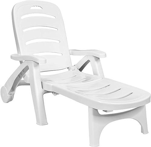 Giantex Lounge Chair Outdoor Folding Lounger