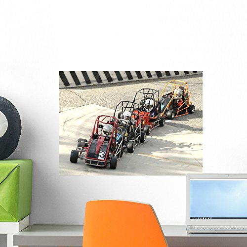 Wallmonkeys Quarter Midget Racers Wall Decal Peel and Stick Graphic WM320820 (18 in W x 13 in ()