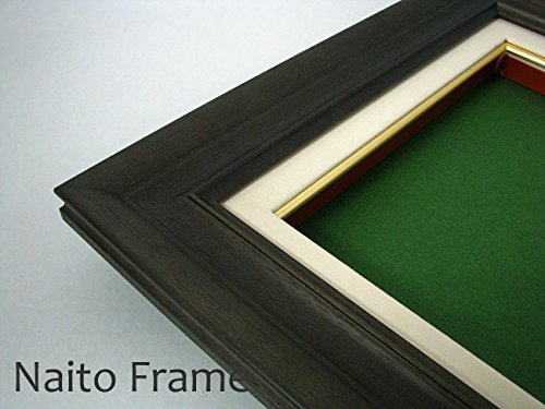 大額 油絵用額縁 7721/墨 F6(410×318mm) ガラス B01AJ6IT7U