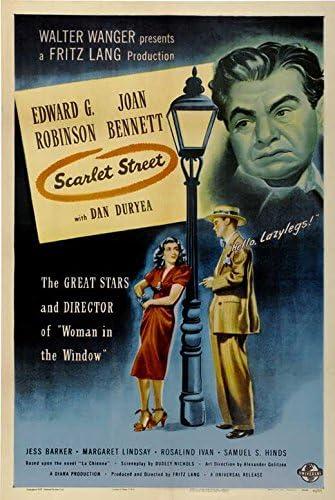 Scarlet street Joan Bennett vintage movie poster print