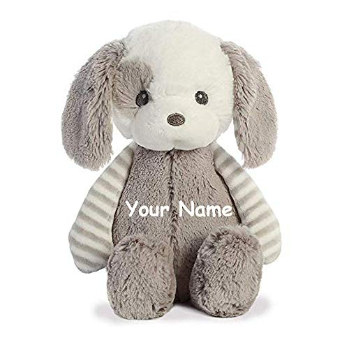 Ebba Personalized Grayson Puppy Dog Plush Stuffed Animal Toy - 10 Inches