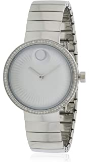 Movado Edge Silver Dial Stainless Steel Ladies Watch 3680033