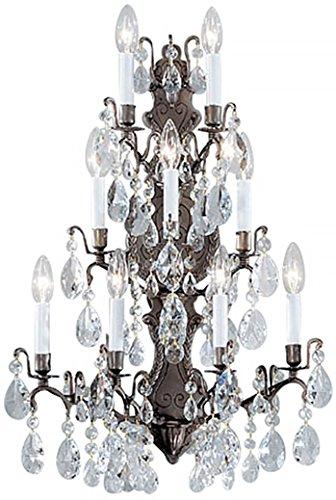 Sconce Versailles Antique Bronze - Classic Lighting 9003 AB C Versailles, Crystal, Sconce/WallBracket, Antique Bronze