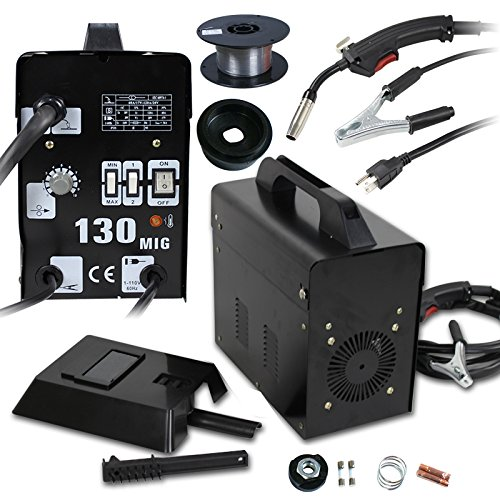 Super Deal PRO Commercial MIG 130 AC Flux Core Wire Automatic Feed Welder Welding Machine w/Free Mask 110V by SUPER DEAL (Image #7)